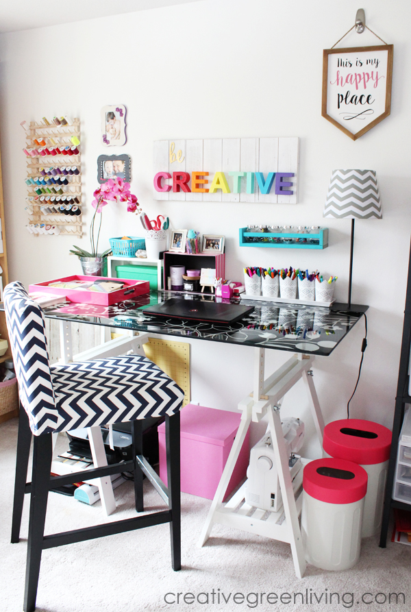 Craft Room Makeover - Creative Green Living