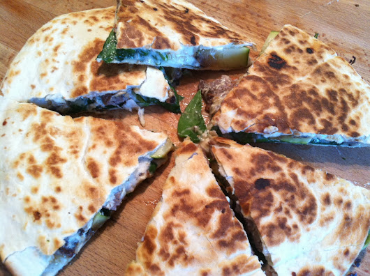 Grilled Skirt Steak and Zucchini Quesadilla