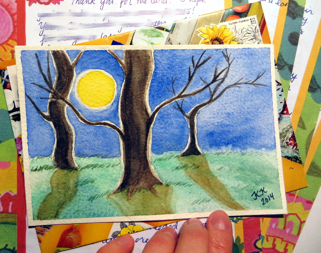 Watercolor Postcard and Letter