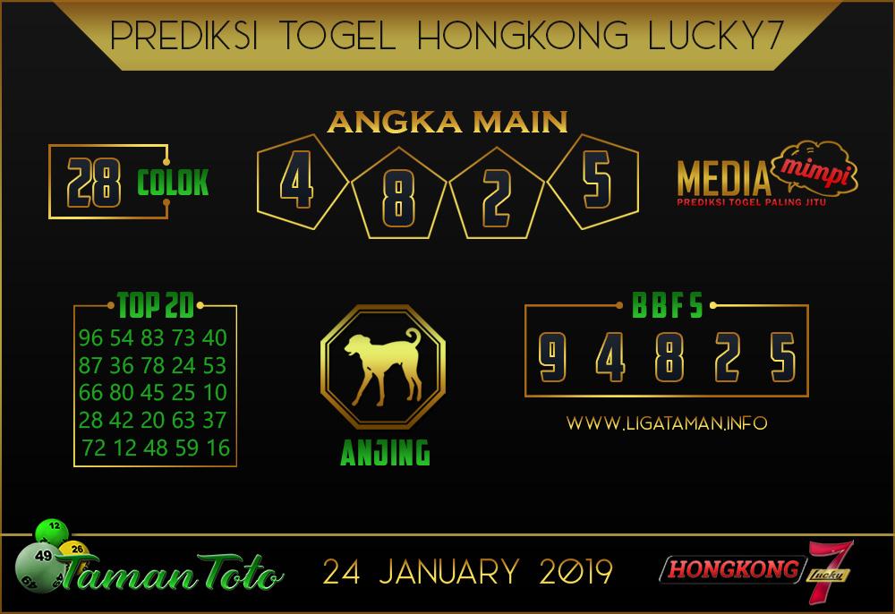 Prediksi Togel HONGKONG LUCKY7 TAMAN TOTO 24 JANUARI 2019