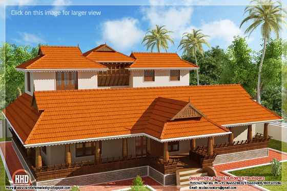 Kerala illam traditional house view 2