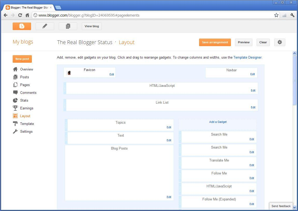 blogger post template code - setting options in the post template