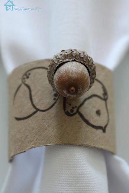 how to make rustic acorn napkin rings