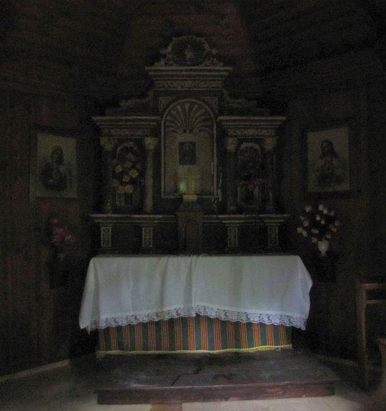 Wnętrze kapliczki św. Franciszka.
