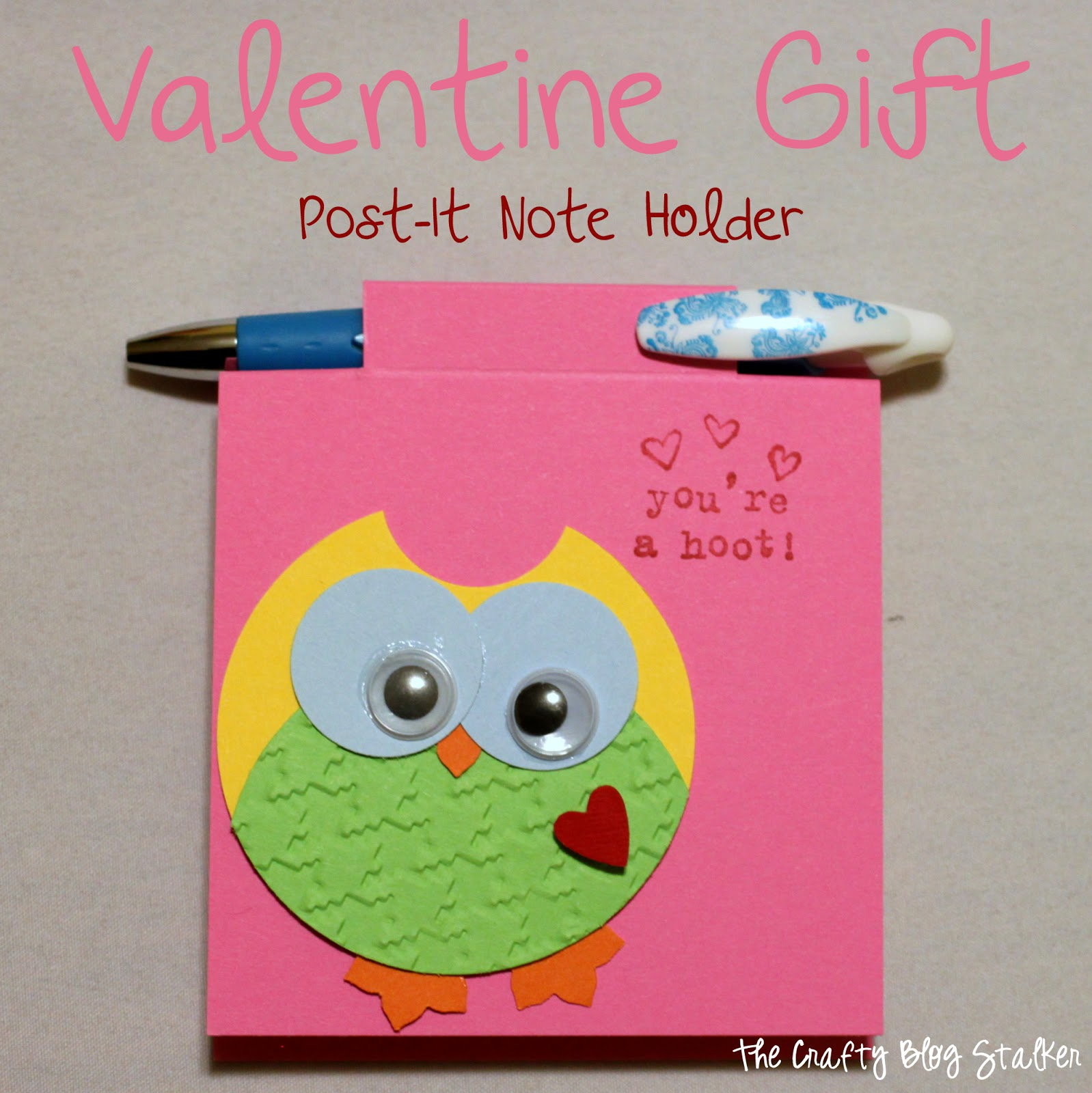 Valentine Gift Post-It Note Holder
