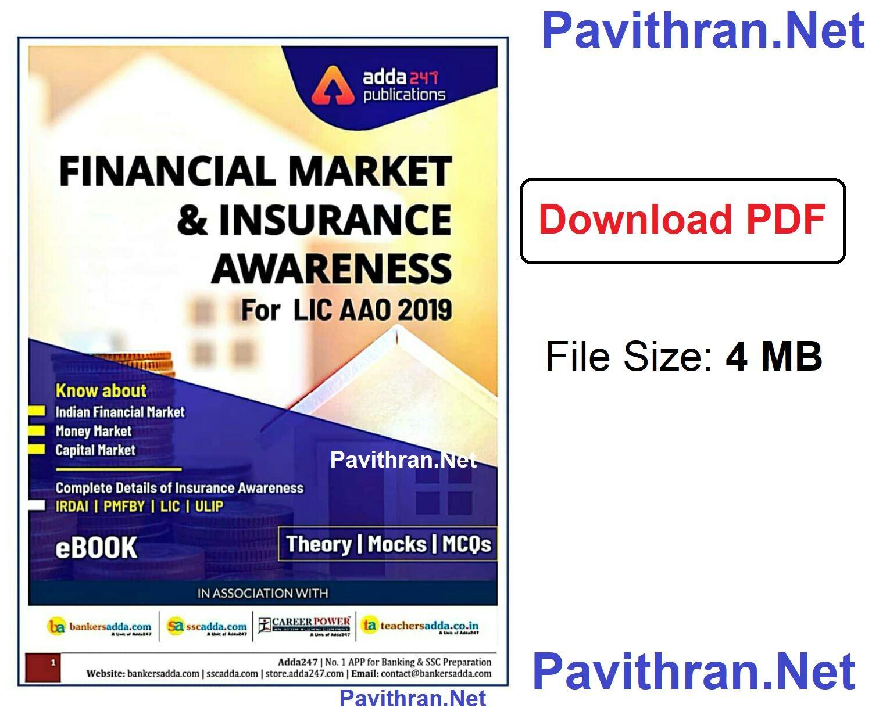 Financial Market & Insurance Awareness for LIC AAO 2019 e-Book PDF