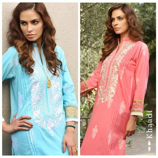 KHAADI LAWN SPRING/SUMMER 2014 | New Summer lawn collection 2014