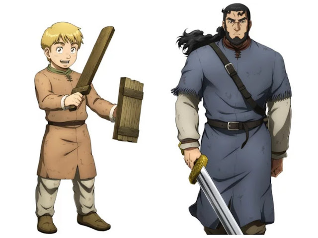 Thorfinn and Thors Character Designs