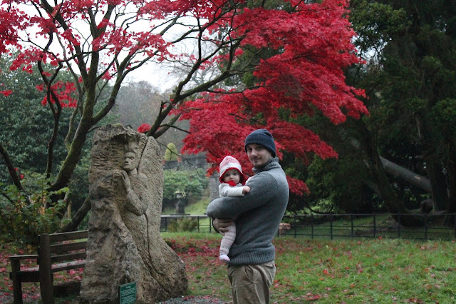 Rydal Mount Gardens Ambleside Lake District in October red trees