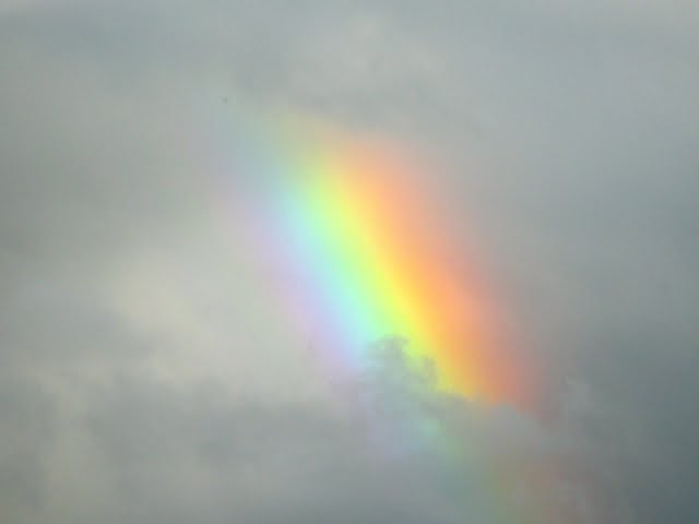 Rainbow at 5:30 on September 26, 2014