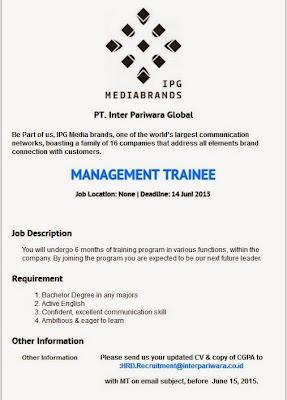 Loker Pt Tempo Job Vacancy Pt Rudi Soetardi Tempo Group Kerja Pt Inter Pariwara Global Juni 2015 Lowongan Kerja Terbaru 2015