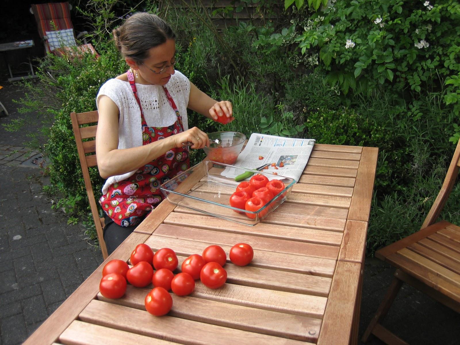 haut der tomaten