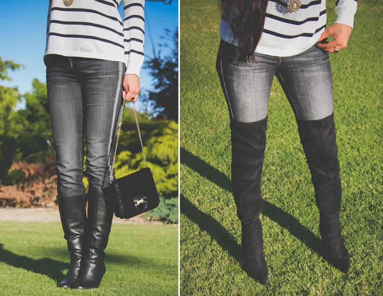 botas debajo o arriba de la rodilla