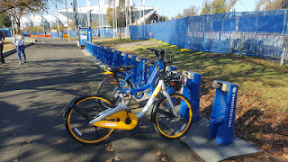 oBike at a Melbourne Bike Share dock