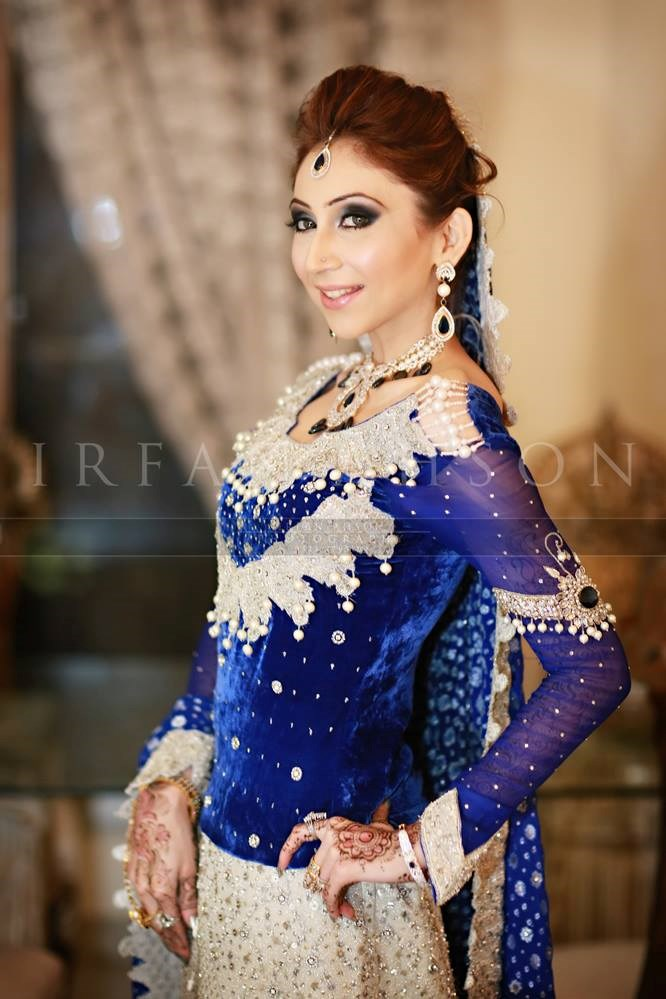 Top 5 blue Pakistani bridal dress 2016