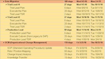 Data Migration and Change Management SAP Project Plan