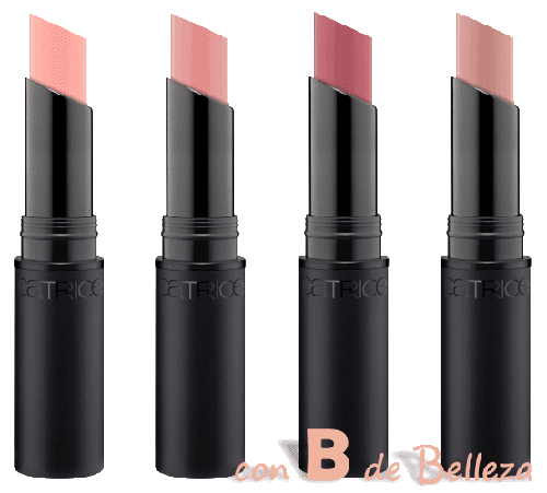 Barely pink, Silky rose, Delicate rosewood y Nearly nude