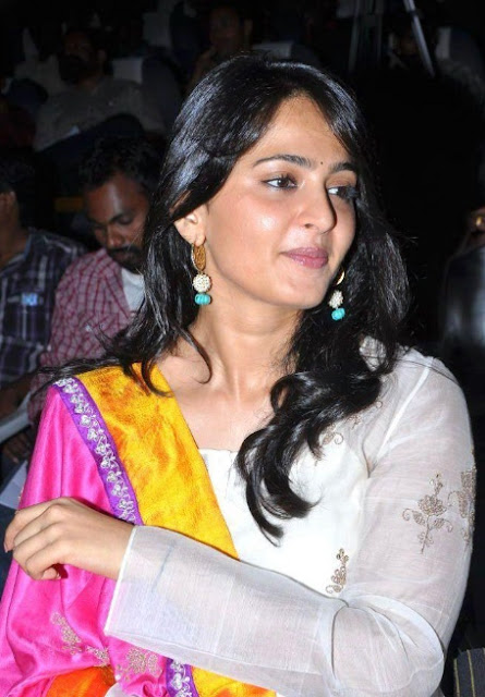 anushka shetty in white dress