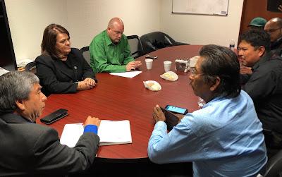 La Diputada María Magdalena Uribe Peña, Coordinadora del Grupo Parlamentario de PT, reiteró su apoyo a las comunidades indígenas de Punta Chueca y Desemboque