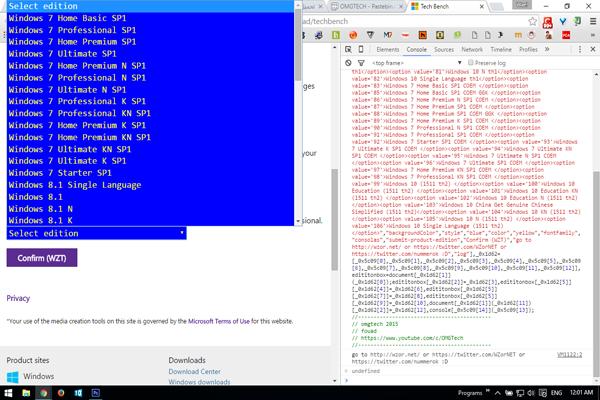 3152b380b ستلاحظ مباشرة بعد ذلك ان اصدارات الويندوز أضحت غير مقتصرة على Windows 10 فقط  بل تم اضافة ويندوز 7 و 8 الخ .. اذ كل ما عليك هو النقر على الاصدار الذي ...