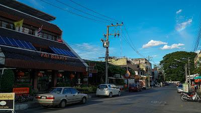 Plenty of local eateries along Intrawarorot road