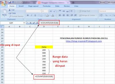 Rumus-rumus dasar pada Microsoft Excel part06