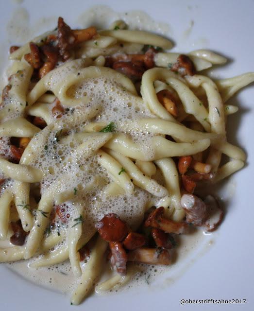 Pasta mit Pfifferlingen und Thymian
