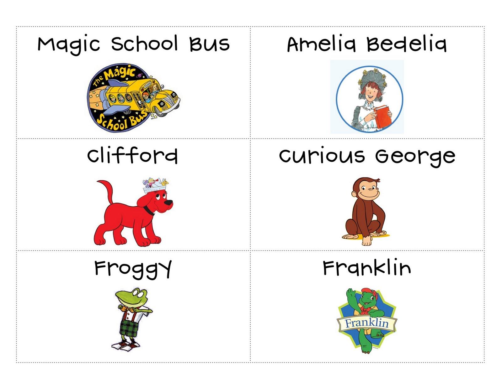 Gluesticks Games And Giggles Freebie Book Bin Labels