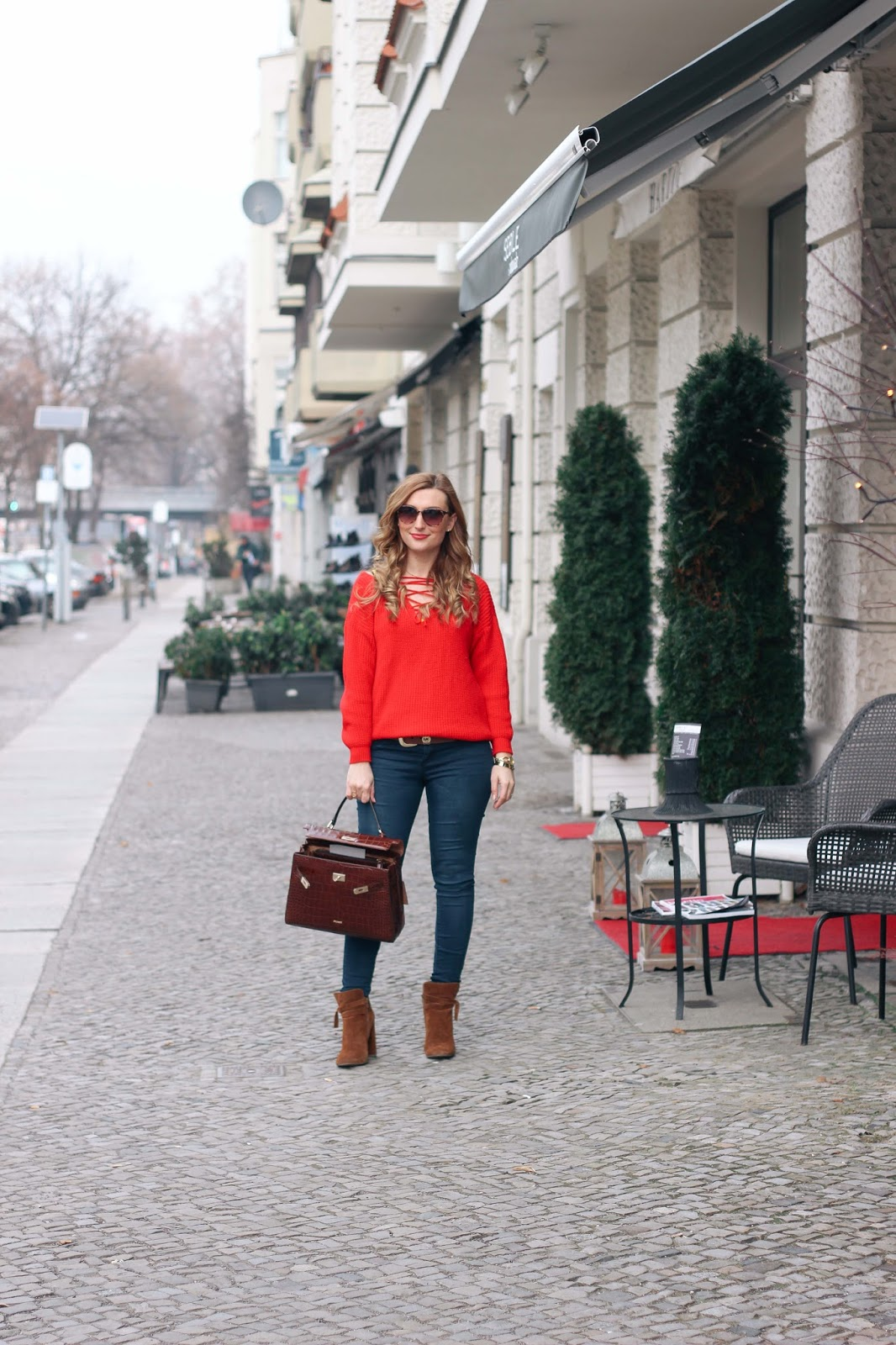 Fashionstylebyjohanna-roter-Pullover-Zaful-Pullover-Skinny-jeans-braune-boots