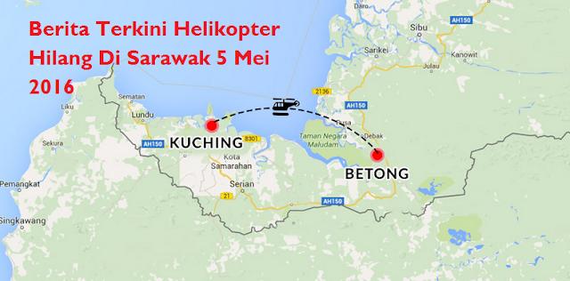 berit aterkini Helikopter Hilang Di Sarawak 5 Mei 2016