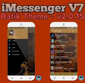 BBM Mod IMessenger v7 Theme Batik v3.0.1.25 Apk Terbaru