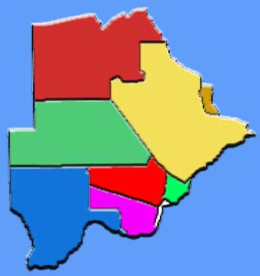 image: Botswana Map blank color