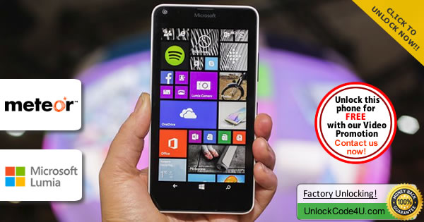 Factory Unlock Code Microsoft Lumia 640 from Meteor