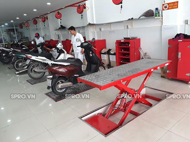 Nhà phân phối bàn nâng xe máy giá rẻ tại Hà Nội