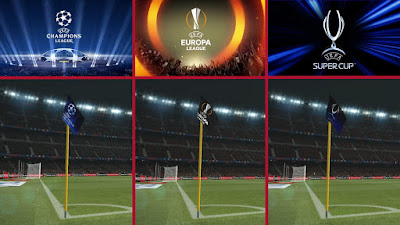 PES 2017 UEFA CornerFlags Pack by Leo05
