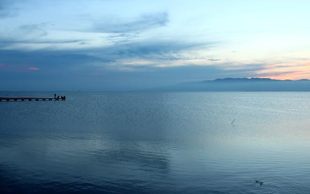 Puesta de sol en el Trabucador. Delta del Ebro