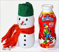 Trang trí Giáng Sinh với người tuyết handmade