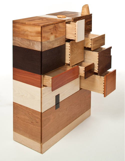 Sensacional cajonera de madera artesanal