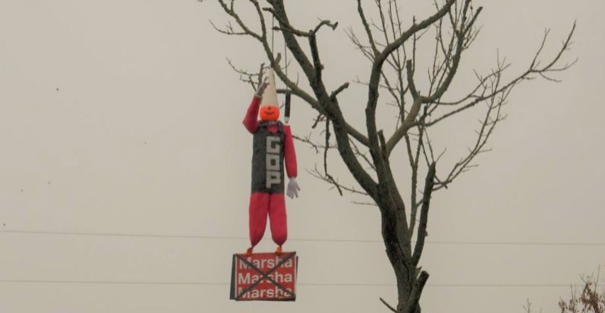 GOP dummy hanging from tree sparks outrage in Shelbyville
