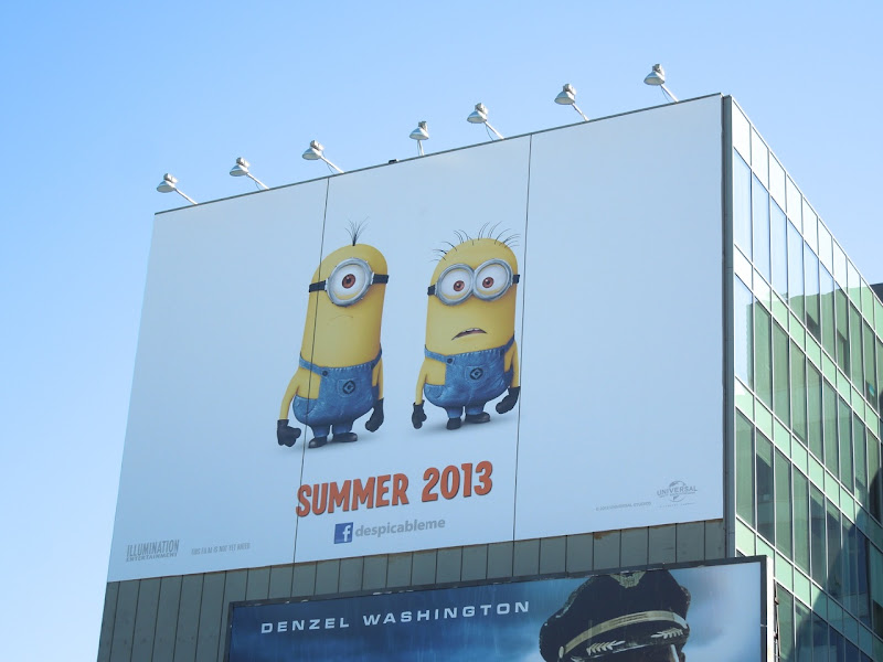 Giant Despicable Me 2 teaser billboard