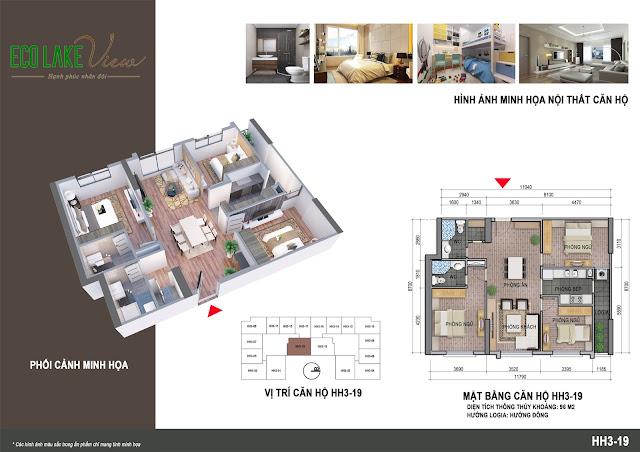 Thiết kế căn hộ số 19 tòa HH03