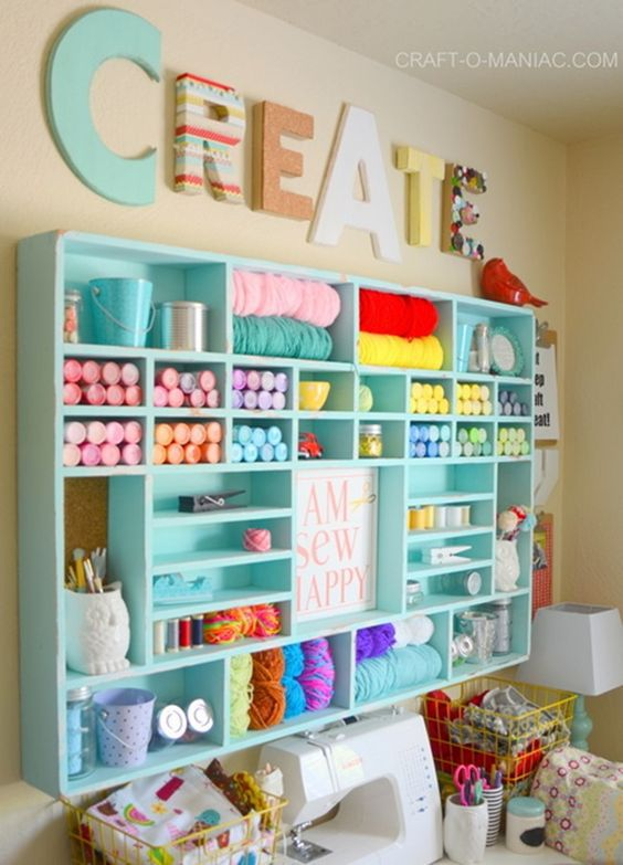 7 Craft Room Organization Ideas That Are Pure Genius Craftsonfire