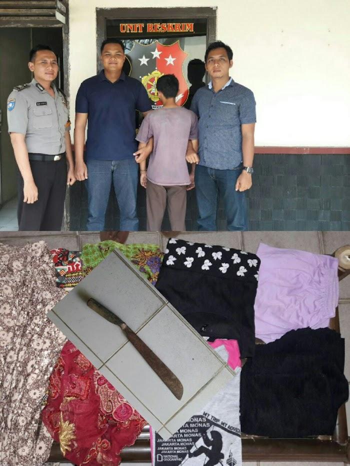 Pencuri Jemuran Di Lampung Timur Di Amankan Di kantor Polisi