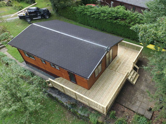 timber deck challet