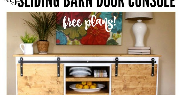 That S My Letter Diy Sliding Barn Door Console Free Plans