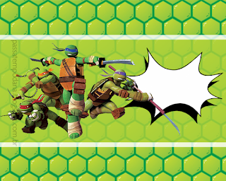 Ninja Turtles, Free Printable  Labels.
