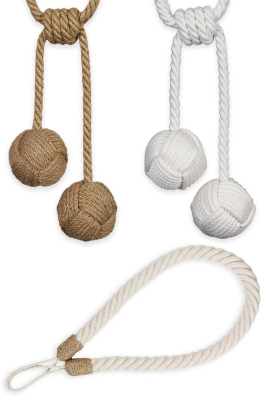 Jute Rope Curtain Tie Backs