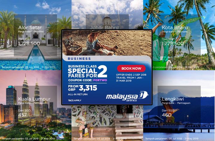 Kupon Promosi MAS - Tambang Istimewa Untuk Business Class