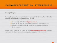 Employee Confirmation Letter Request 2014
