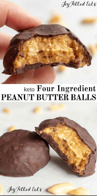 HEALTHY PEANUT BUTTER BALLS EASY KETO LOW CARB